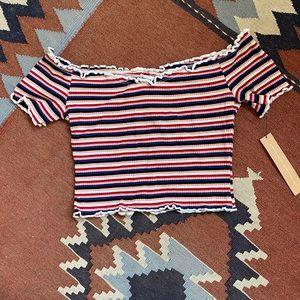 Reformation Jeans Willet striped crop top